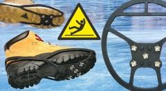 Zľava 40%: Získajte istý a pevný krok vďaka protišmykovým návlekom na obuv z kvalitného gumového materiálu odolného voči mrazu len za 5,99€. Ideálne na turistiku i šport a povrchy ako sneh, ľad či mokrá tráva!