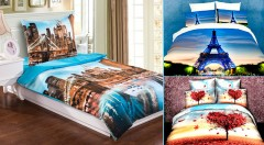 Zľava 57%: Štýlové a moderné 3D posteľné obliečky na jednolôžko z príjemného materiálu len za 15,90 €. Vyberte si z 12 krásnych vzorov a ozdobte svoje kráľovstvo spánku!