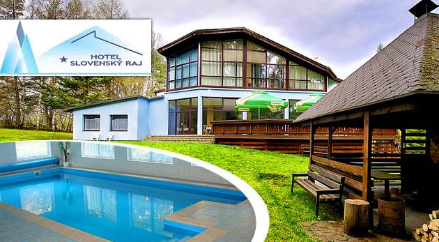 Fotka zľavy: Oddychové 3 dni v lone malebnej prírody v príjemnom Hoteli Slovenský Raj už od 99 € pre 2 osoby vrátane polpenzie, vstupu do sauny a neobmedzeného vstupu do bazéna či fitness!
