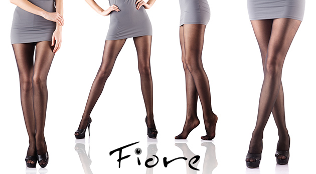 Fotka zľavy: Dokonalé nohy vďaka sexy lycrovým pančuchám, podkolienkam či ponožkám značky Fiore už od 9,99 €. Na výber z viacerých farieb. Ku pančuchám navyše 2 páry ponožiek ako bonus!