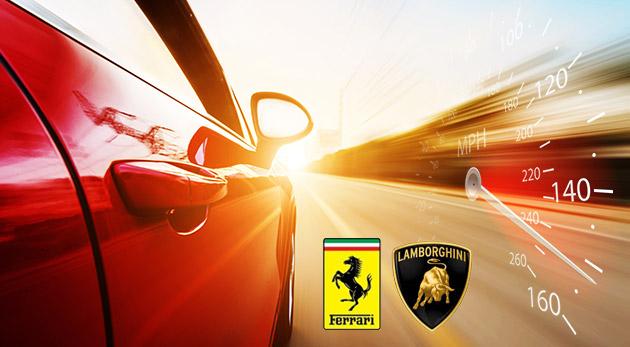 Fotka zľavy: Vyskúšajte nové talianske strely Lamborghini Huracán LP 610-4 alebo Ferrari F458 Italia o sile okolo 600 koní už od 39 €! Jazda na nezabudnutie v dĺžke 32 km!