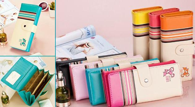 Fotka zľavy: Elegantné a štýlové dámske peňaženky s dostatočným priestorom pre vaše peniaze a karty len za 8,90 €. Na výber v 7 sviežich farebných prevedeniach.