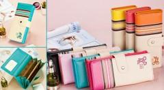 Zľava 59%: Elegantné a štýlové dámske peňaženky s dostatočným priestorom pre vaše peniaze a karty len za 8,90 €. Na výber v 7 sviežich farebných prevedeniach.