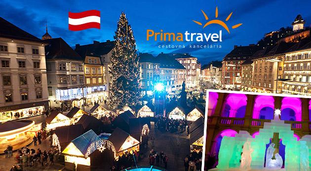 Fotka zľavy: Magická atmosféra vianočných trhov v Grazi spolu s prehliadkou mesta a unikátnym ľadovým betlehemom len za 26,90 € na vás čaká na jednodňovom zájazde s CK Prima travel.