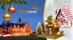 Zľava 29%: Nezabudnuteľná návšteva najkrajšej výstavy perníkových chalúpok v Európe a vianočných trhov na romantickom zámku Grafenegg len za 26,90 € vrátane autobusovej dopravy a sprievodcu.