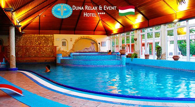 Fotka zľavy: Prepychovo oddychovať spolu s polpenziou a neobmedzeným vstupom do wellness môžete v luxusnom maďarskom Duna Relax & Event Hoteli**** už od 149 €.