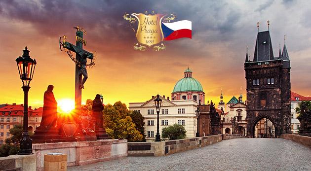 Fotka zľavy: Luxusný Hotel PRAGA 1885**** blízko centra Prahy už od 53€ pre dvoch s raňajkami či polpenziou. Vychutnajte si komfort v historickej budove, v ktorej býval aj Albert Einstein! Dieťa do 6 rokov zdarma.