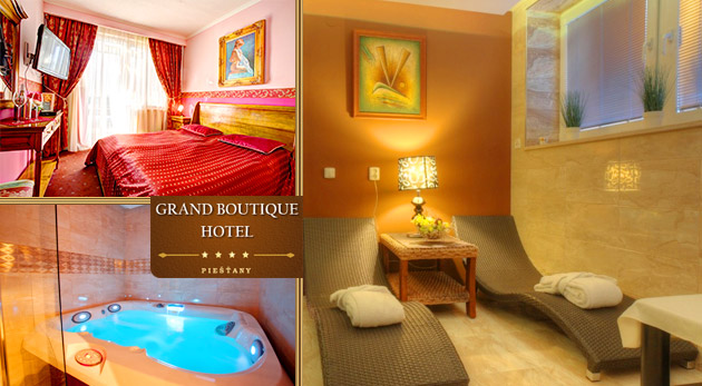 Fotka zľavy: Vychutnajte si večer plný romantiky v spoločnosti vašej polovičky v luxusnom Grand Boutique Hoteli Sergijo**** v Piešťanoch len za 75€ s raňajkami, večerou pri sviečkach a neobmedzeným wellness!
