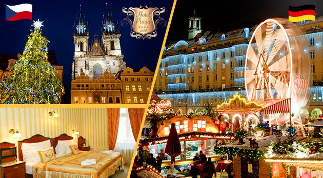 Fotka zľavy: Nasajte čarovnú atmosféru predvianočnej Prahy počas 3 dní v historickom Hoteli Praga 1885**** pre dvoch len za 169 € s raňajkami a celodenným zájazdom do adventného Nemecka! Dieťa do 6 rokov zadarmo.