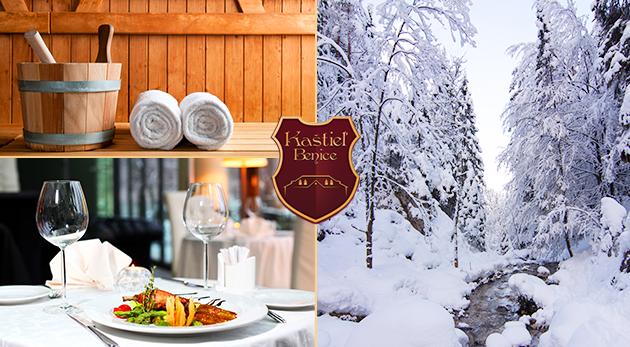 Fotka zľavy: Zimná romantika pre dvoch v nádhernom Kaštieli Benice v Turčianskej kotline s polpenziou a saunou už od 85€!