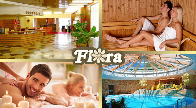 Fotka zľavy: Wellness pobyt v kúpeľných Dudinciach v Hoteli Flóra už od 119 € pre dvoch vrátane plnej penzie, masáží a využívania bazéna. Dieťa do 3 rokov zadarmo.