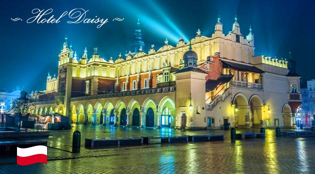 Fotka zľavy: Bohatý 3-dňový pobyt pre dvoch v Krakove. Hotel Daisy Superior*** len za 89 € s raňajkami, vstupom do bazéna, sauny a s ďalšími skvelými výhodami.