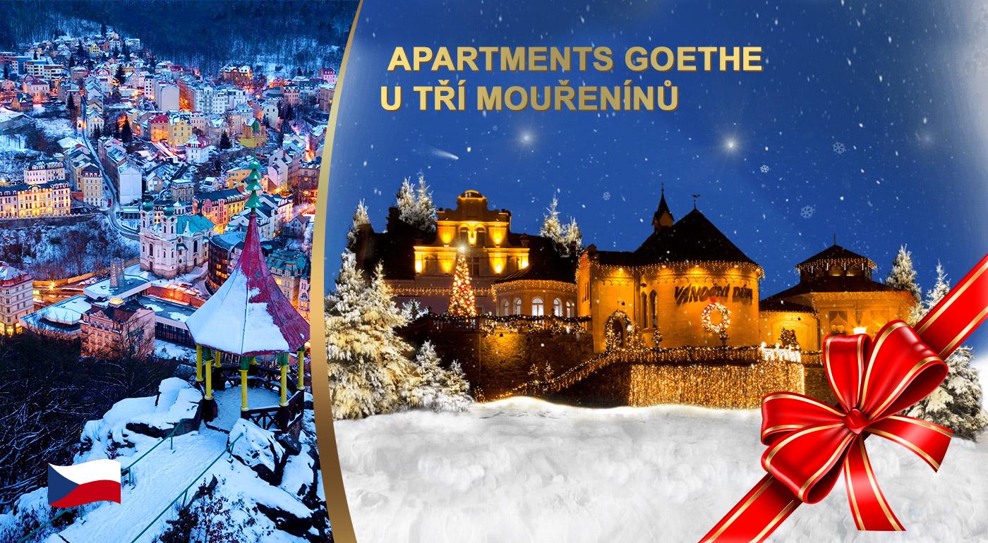 Fotka zľavy: Zažite Vianoce v Karlových Varoch v rámci pobytu v Apartmánoch Goethe U Tří mouřenínů v srdci mesta už od 144 € pre dvoch s raňajkami. K tomu kopec bonusov!