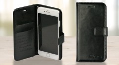 Zľava 40%: Praktický a elegantný čierny kožený obal na iPhone 6/6s len za 17,90 € ochráni váš telefón pred nárazmi, poškriabaním, prachom a špinou. Váš telefón bude odteraz v bezpečí.