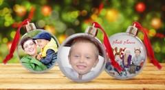 Zľava 35%: Ozdobte si váš stromček alebo domov originálnou vianočnou guľou, v ktorej bude vaša obľúbená fotografia. Získate ju len za 6,50 €!
