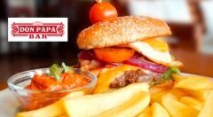 Zľava 38%: Dostaňte vaše chuťové bunky do siedmeho neba - príďte ochutnať šťavnaté burgre podľa tradičných receptov do Don Papa. Poctivý Beef burger, Cheese burger či Bacon burger s bohatými prílohami od 4,90 €!
