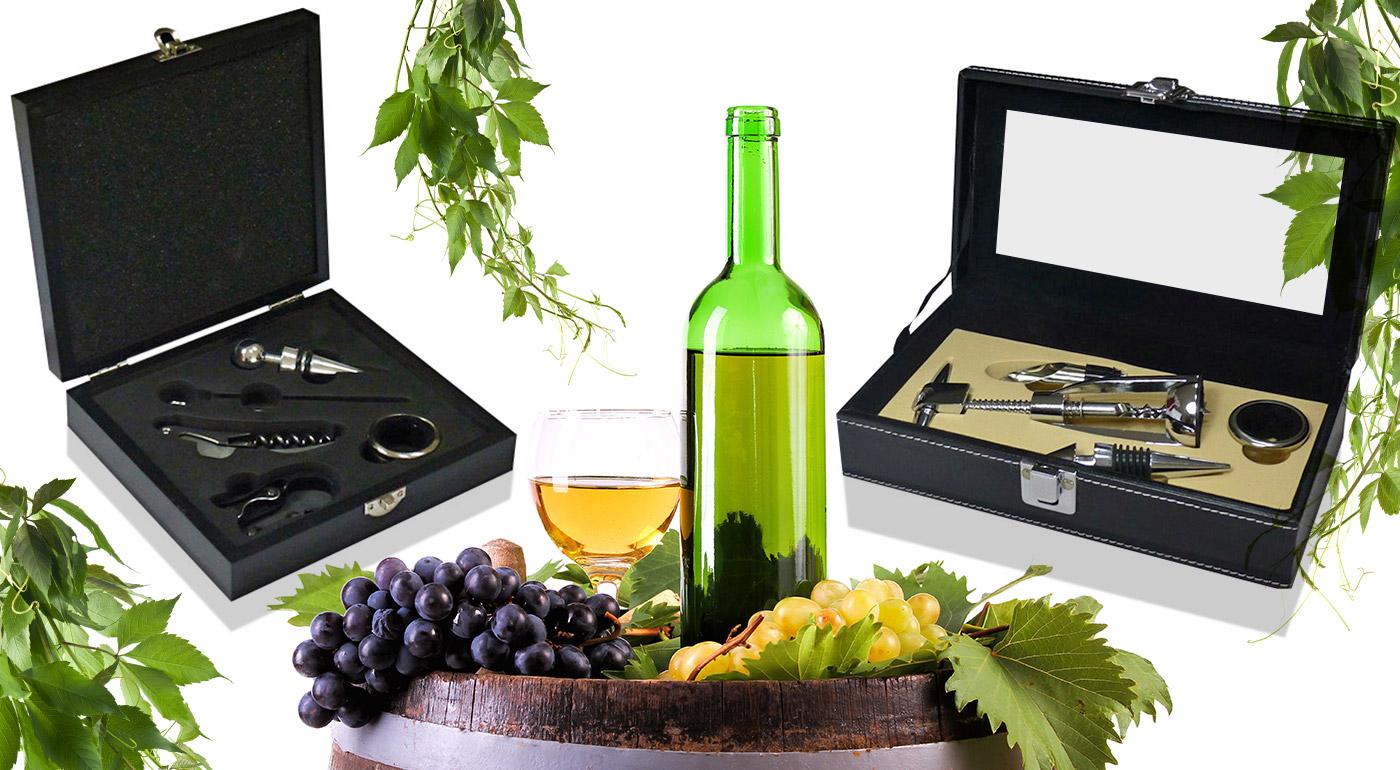 Fotka zľavy: Exkluzívna darčeková krabička s vinárskou súpravou pomôcok pre správnych vinárskych fajnšmekrov už od 8,90 €! Na výber 2 verzie.