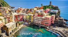 Zľava 30%: Spoznajte Ligúriu, najkrajšiu oblasť Talianska. 5-dňový zájazd len za 199€ vrátane ubytovania v 3* hoteli s raňajkami, dopravy luxusným autobusom a služieb sprievodcu.