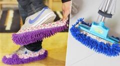 Zľava 64%: Vyskúšajte univerzálne mop papuče len za 3,99 €. Sú vyrobené z kvalitného materiálu v dvoch farbách. Vaše deti si upratovanie určite zamilujú!