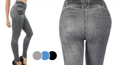 Zľava 60%: Trendy a skvele padnúce legíny s džínsovým vzhľadom iba za 13,99 € - 3 kusy v balení. Prispôsobia sa každej postave a krásne zvýraznia vaše krivky. Stavte na módny hit, v ktorom budete neodolateľná!