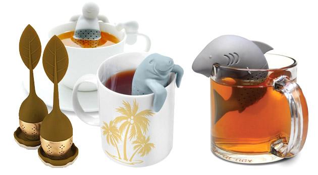 Fotka zľavy: Roztomilé sitká s originálnym dizajnom už od 2,90 € zaručia, že si čaj budete robiť neustále. Na výber panáčik, žralok, tuleň alebo čajový lístok.