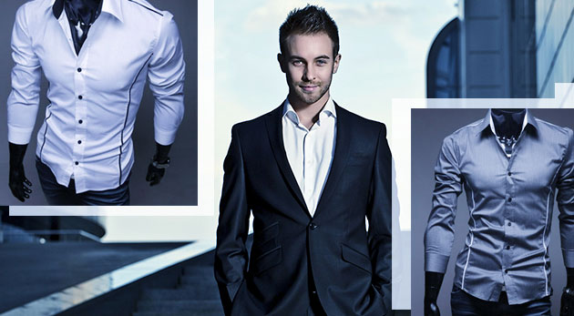 Fotka zľavy: Držte krok s módnymi trendmi so slim-fit košeľou už od 10,99 €. Na výber z dvoch druhov v rôznych farbách.