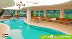 Zľava 37%: Oddajte sa relaxu v Szépia Bio & Art Hoteli**** v Maďarsku len za 169 € pre dvojicu. Čaká na vás chutná polpenzia, neobmedzený vstup do wellness a kupón na masáž. Deti do 6 rokov zadarmo!
