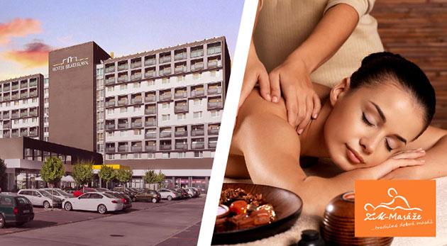 Vychutnajte si uvoľňujúcu masáž - balíček masáží pre jednotlivca alebo páry v Hoteli Bratislava****