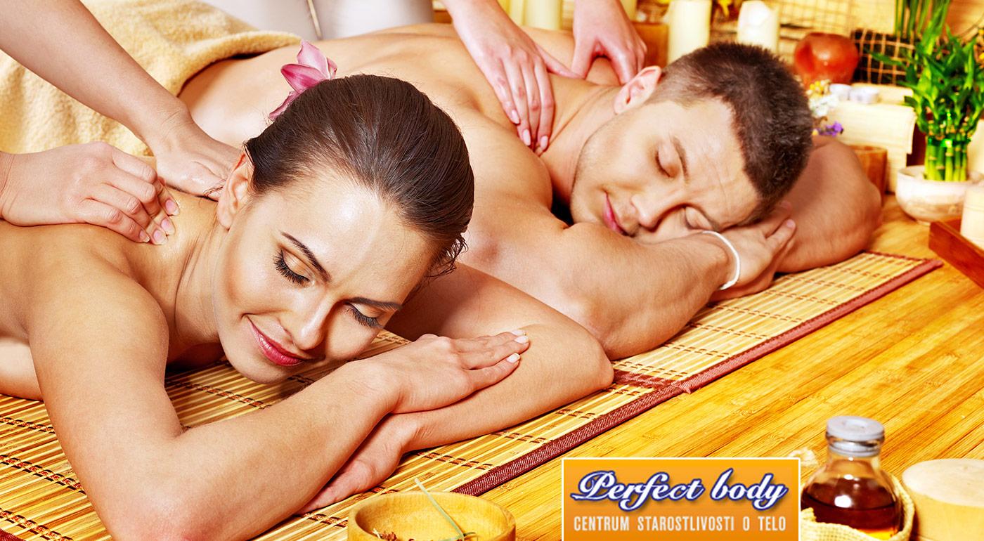Fotka zľavy: Romantická klasická masáž v salóne Perfect Body pre dvojicu len za 12 € pre príjemné uvoľnenie a spoločný relax. Darujte tento zážitok svojej polovičke napríklad aj na Valentína!