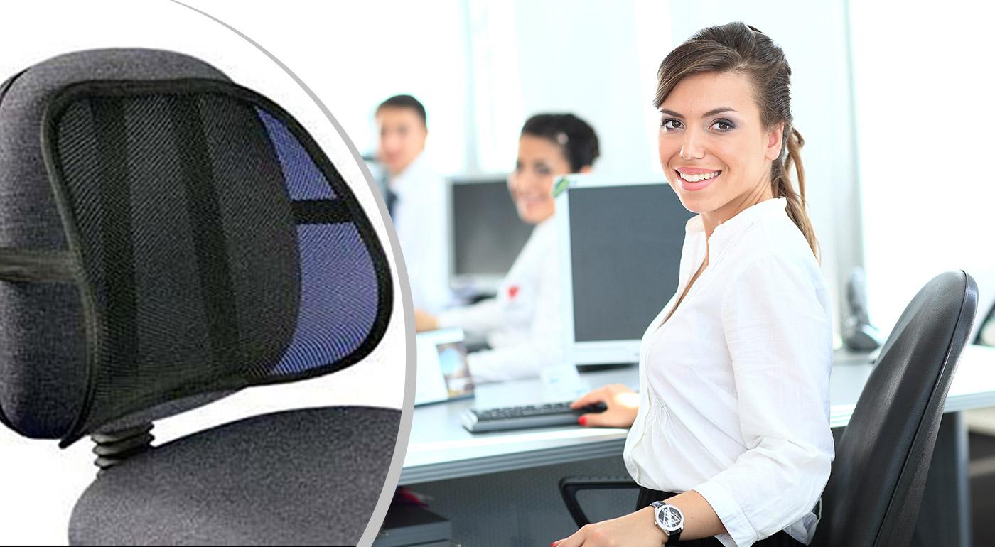 Fotka zľavy: Pohodlná pomôcka pre zdravie vašej chrbtice len za 4,90 €! Príjemná masážna opierka chrbta vám prinavráti zdravý chrbát. Na každú stoličku, do každého auta - doprajte si komfortné sedenie!
