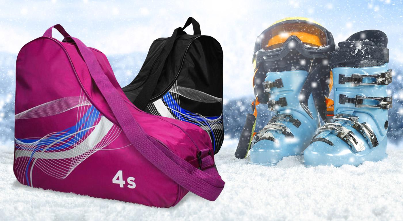 Fotka zľavy: Pre bezpečné a pohodlné cestovanie vašich lyžiarok a korčúľ, im kúpte univerzálny vak len za 7,99 €. Vak je s nastaviteľným popruhom na rameno, rukoväťou a zipsom. Na výber z troch farieb.