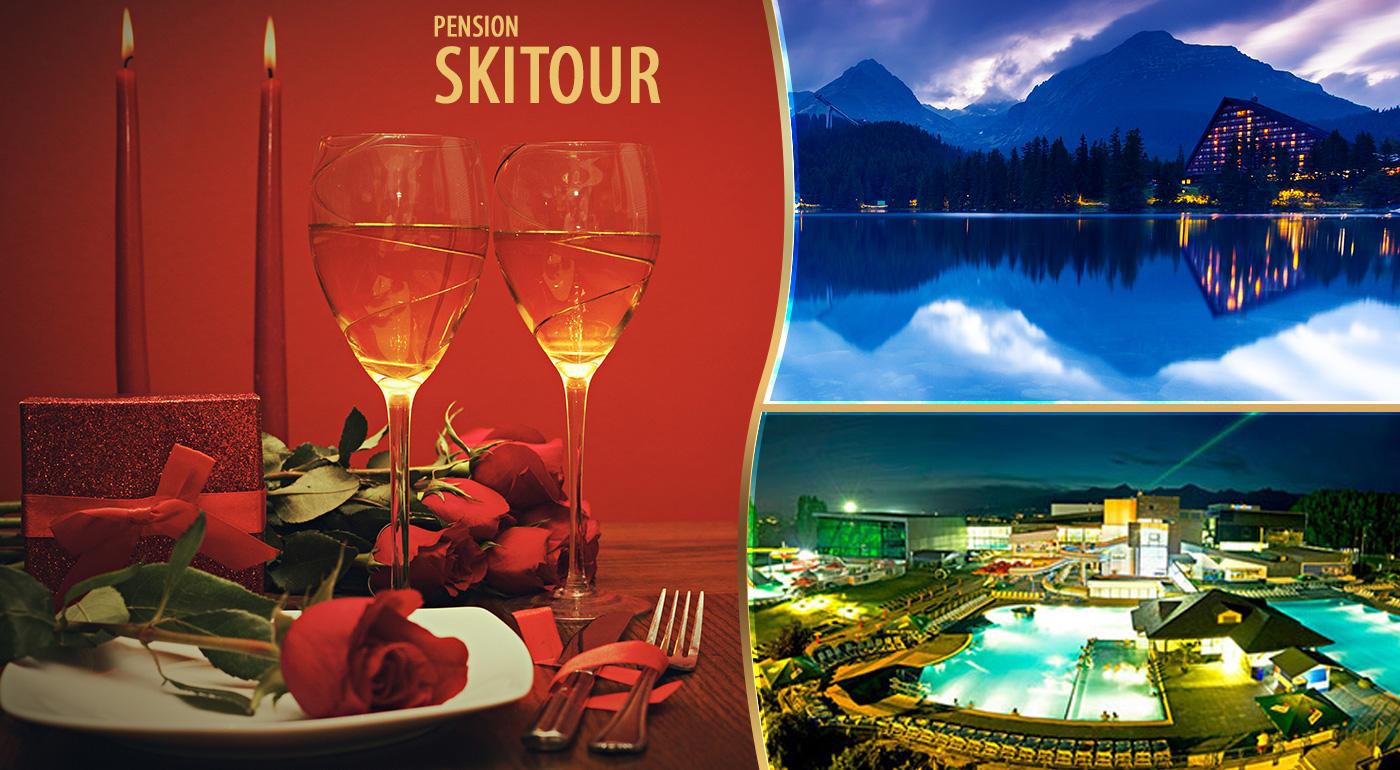 Fotka zľavy: Valentínsky relax pre zamilovaných vo Vysokých Tatrách - 3 dni v Penzióne Skitour**+ už od 89 € vrátane raňajok, fľaše sektu s prekvapením a celodenným vstupom do Aquacity Poprad!